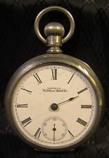 Antique American Waltham Sub Second Hand Large Pocket Watch 1891 Parts Repair