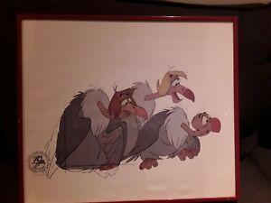 Disney Original Hand Painted Movie Film Cel, Dschungel Buch Geier
