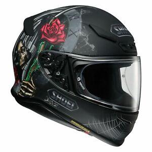 Shoei NXR Dystopia Motorcycle Motorbike Full Face Helmet TC5 - Matt Black