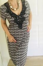 CRUISEWEAR & COMPANY WOMENS DRESS BLACK WHITE STRETCHY KNEE LENGHT SZ XXL