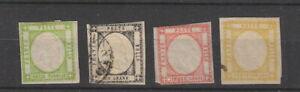 Italian States Neapolitan provinces , 1861 , 4 stamps