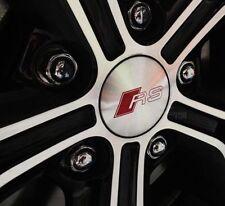 RS 4 x 60mm AUDI Nabenkappen Felgendeckel Nabendeckel Radkappen Alloy Emblem