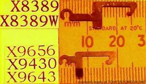 hornby oo spares x9643w/x9430w/x9656w 1x pack10 short type w'th'd coupling hooks