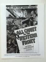 All Quiet On The Western Front Movie Still / Lobby Card - Print Of Poster