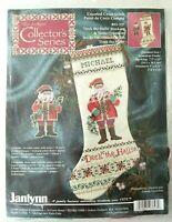 Janlynn Collector's Series Deck the Halls Stocking & Ornament Cross Stitch Kit