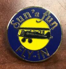 SUN 'n FUN Fly-In Enamel Lapel Pin Mid 90's Thru Mid 2000's