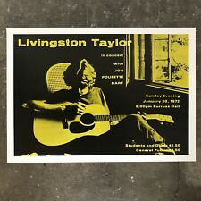 Livingston Taylor Original Concert Poster 1972 Virginia Tech
