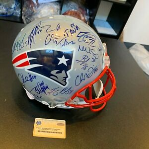 2004 New England Patriots Super Bowl Champs Team Signed Helmet Tom Brady Steiner