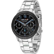 OROLOGIO SECTOR 270 r3253578011 uomo watch ACCIAIO 41MM MULTIFUNZIONE NERO BLACK