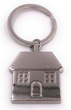 Haus silber mit Fenstern Schlüsselanhänger Anhänger aus Metall