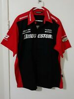 Men's Shirt Size XL Bridgestone Red & Black Short Sleeve Collared Button Up New