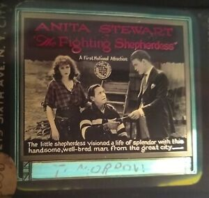 The Fighting Shepherdess 1920 Vintage Glass Slide Anita Stewart (Version 1)