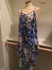 NWT Alberto Makali Blue Python Hi Low Dress Size Medium