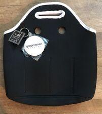 BLACK NEOPRENE SIX-PACK TOTE Mudpie Wedding Bachelor Party Gift!  Bottle Holder