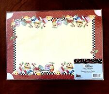 Mary Engelbreit 6 Count Paper Placemats 10 X 14 Bowls of Cherries New