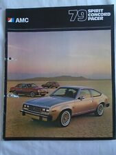 AMC Spirit Concord Pacer range brochure 1979 USA market