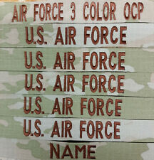 Set of 8 (( 3 Color OCP))  Custom  Air Force Name or Branch Tapes Hook Fastener