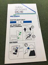 safety card airflorida dc 10