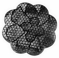 """5 Black Lace Decorated Acrylic Flower Beads """"BUY ONE GET ONE FREE"""" ~ lady-muck1"""