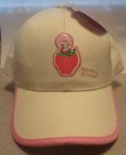 STRAWBERRY SHORTCAKE BEIGE BASEBALL CAP SUN HAT~NEW~CHILD HAT~FASHION HAT