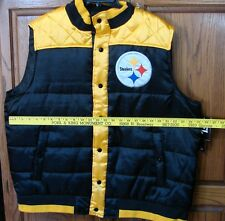 womans Pittsburg Steelers polar vest very nice refer to the pictures  small