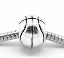 """Basketball Ball"" Charm for Snake Chain Charm Bracelets"