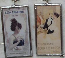 LEON CHANDON CHAMPAGNE DOUBLE SIDED  ART  GLASS PENDANT