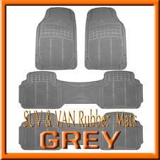 VOLKSWAGEN  ROUTAN   ALL WEATHER  SEMI CUSTOM  GRAY  RUBBER FLOOR MATS / 4 PCS