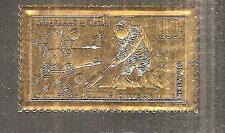 CHAD # 60 MNH ASTRONAUT ON MOON.  APOLLO 11. Gold Foil
