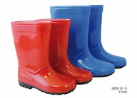 Kids Boys Girls Wellies Wellington Boots Red Blue UK 10,11,12,13,1,2 FREE P&P