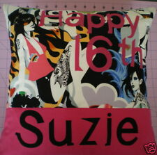 18th 21st 30th 40th 50th 60th NAMED PERSONALISED CUSHION COVER BIRTHDAY GIFT
