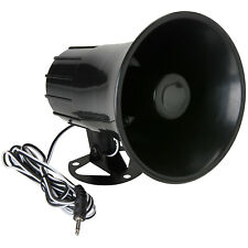 Black Abs Weather Proof Pa Speaker Horn Cb Radio, Marine, Outdoor, Game Call 15w