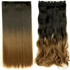 Real As Human,17-30 Inch,3/4Full Head Clip In Hair Extensions,Brown Black Blonde