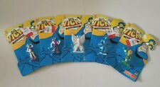 """Lot Of 5 The Tick 1994 Bandai Collectible Miniature 3"""" Toy Figures"""