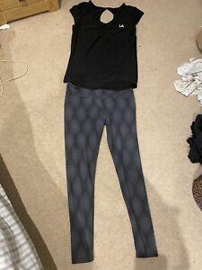 Women's Sportswear Set: Ladies Running, Gym Leggings & Vest  Size 10/12