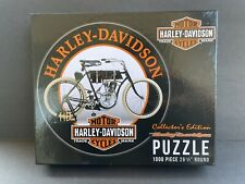 """HARLEY-DAVIDSON MOTORCYCLE Collector's Edition 1000 Pc Round Jigsaw Puzzle 26.5"""""""
