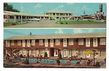 Kentucky postcard Bowling Green, Western Hills Motel chrome swimming pool