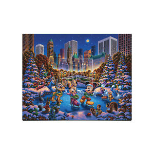 Eric Dowdle Mickey & Friends Skating in Central Park 11 x 14 Art Print