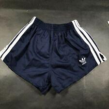 Vintage Adidas Trefoil Boys Youth L 28-30 Navy Blue Running Shorts Cloth New