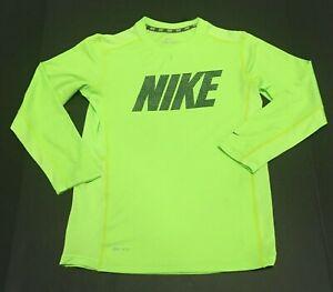 Nike Dri Fit Boy's Training Shirt Active Long Sleeve Graphic Tee T-Shirt $35