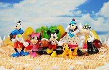 Tortenfigur Figur Toy Modell Disney Olympics Mickey Minnie Goofy Pluto Cow Set