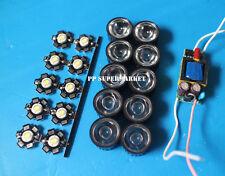 20pcs 3w led higt power + 20pcs 45degree lens + 2pcs6-10x3w led driver for diy