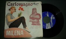 "Milena - Carlomagno / Se Te Ne Vai 7"", 45 RPM, Single"
