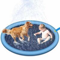 "RIOGOO Splash Sprinkler Pad for Dogs Kids, 59"" Water Play Mat Wading Pool for"