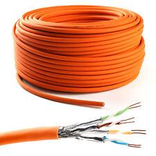50m Cat 7 Verlegekabel 1000MHz S/FTP PIMF simplex 10Gbit Gigabit Netzwerkkabel