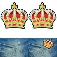 XL Cherubino Angelo Ricamato Giacca Patch APPLIQUE Corona di Qualità