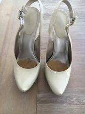 Aldo Patent Nude Pumps High Heel Size 9.5  Great Condition