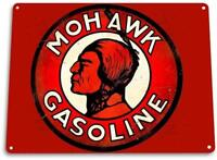 Mohawk Gasoline Oil Gas Station Metal Service Auto Shop Garage Sign