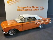 Danbury Mint 1960 Chevy Impala Tangerine Flake Streamline Baby 1:24 Diecast Car