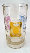 Seltenes Egermann Becher Bäder Glas um 1850 mit Krone für d. französischen Markt
